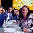 """Valérie Benaïm sur le plateau de """"C'est que de la télé"""" - Instagram, 29 juin 2018"""