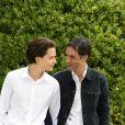 """Jules Benchetrit et son père Samuel Benchetrit - Photocall du film """"Asphalte"""" lors du 8ème festival du film francophone d'Angoulême. Le 27 août 2015"""