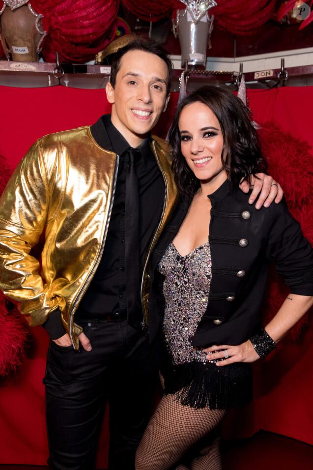 """Grégoire Lyonnet et sa femme Alizée - Backstage de l'émission """"Tous au Moulin Rouge pour le sidaction"""" au Moulin Rouge à Paris le 20 mars 2017. © Cyril Moreau - Dominique Jacovides / Bestimage"""