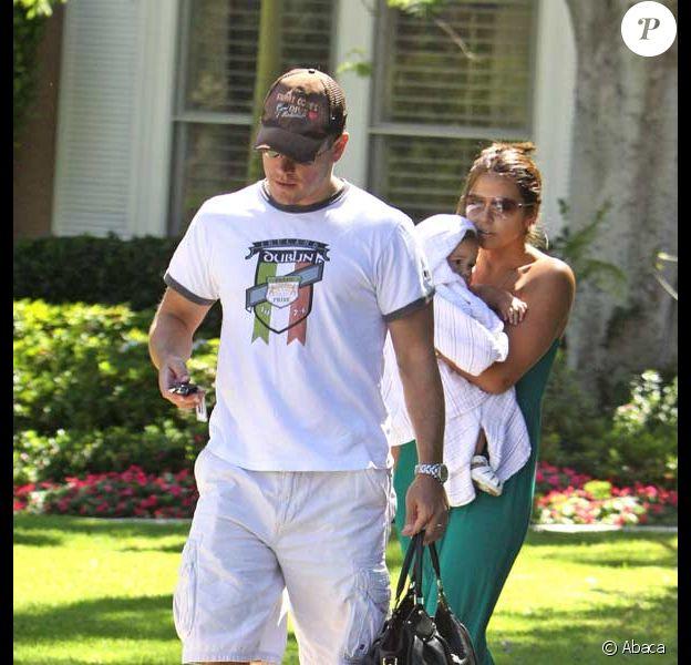 Matt Damon, sa femme Luciana et leur fille Gia Zavala