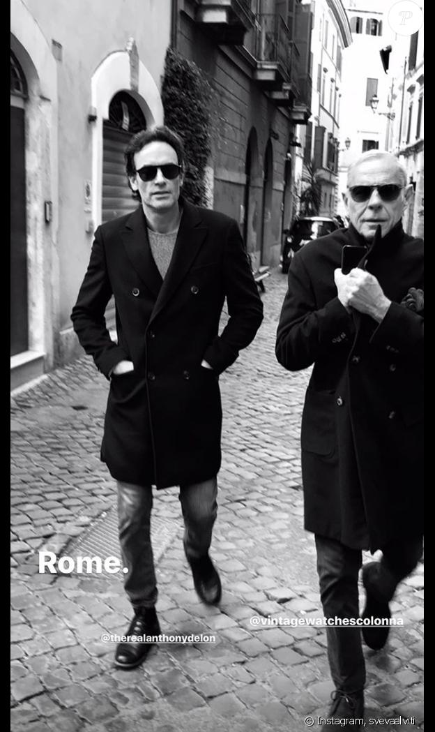 Anthony Delon en week-end à Rome avec sa compagne Sveva Altivi, sur Instagram, le 15 novembre 2019.