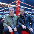 Anthony Dupray et son père lors du gala de boxe Univent à l'AccorHotels Arena de Paris pour le championnat du monde WBA le 15 novembre 2019. © Veeren / Bestimage