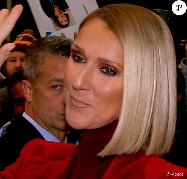 Céline Dion quitte son hôtel. New York. Le 14 novembre 2019. @Dylan Travis/ABACAPRESS.COM