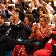 Christian Estrosi, le maire de Nice, et sa femme Laura Tenoudji Estrosi - Concert de Gilbert Montagné à l'occasion de l'Appel National pour la Tsedaka au profit des plus démunis à Nice le 24 novembre 2019, au Palais Acropolis, salle Athéna. © Bruno Bebert/Bestimage