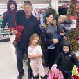 Hilaria Baldwin, Alec Baldwin et leur quatre enfants. Novembre 2019.