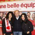 """Sabrina Ouazani, Mohamed Hamidi et sa femme - Avant-première du film """"Une belle équipe"""" à Paris le 3 décembre 2019. © Jack Tribeca/Bestimage"""