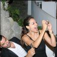 La belle Rosario Dawson et son french lover, lors d'une soirée à l'hôtel Regina Isabella, à l'occasion du 7e Festival d'Ischia, en Italie, en juillet 2009 !