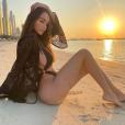 Nabilla à la plage à Dubaï - 1er décembre 2019, Instagram
