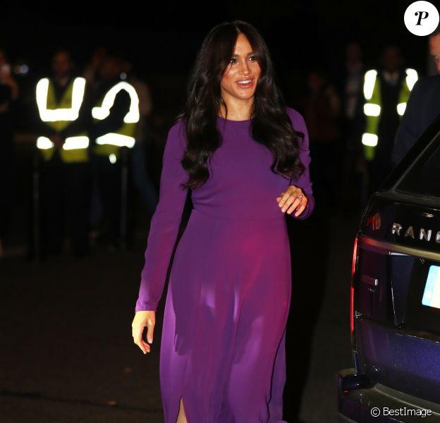 Meghan Markle, duchesse de Sussex, arrive à l'ouverture du sommet One Young au Royal Albert Hall à Londres le 22 octobre 2019.
