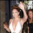 Jennifer Lopez a fait la fête avec Marc Anthony et ses amis samedi 25/07 à New York pour ses 40 ans !