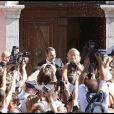 Mariage d'Alexandra Lamy et Jean Dujardin, le 25 juilet 2009.