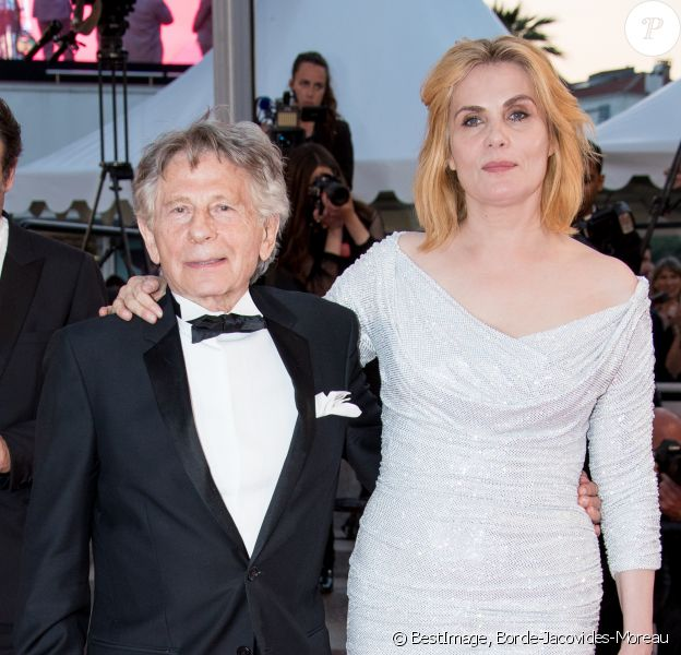 "Roman Polanski et sa femme Emmanuelle Seigner - Descente des marches du film ""D'Après une Histoire Vraie"" lors du 70ème Festival International du Film de Cannes. Le 27 mai 2017. © Borde-Jacovides-Moreau / Bestimage"