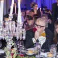 Alber Elbaz, Babeth Djian et Olivier Rousteing assistent au dîner de gala de l'association AEM (Un Avenir pour les Enfants du Monde) au bénéfice des enfants du Rwanda organisé par Babeth Djian au Pavillon Ledoyen à Paris, le 12 décembre 2019. © Olivier Borde/Bestimage