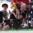 Ellen Pompeo alias Meredith et Katherine Heigl alias Izzie sur le tournage de la saison 6 de Grey's Anatomy. Juillet 2009