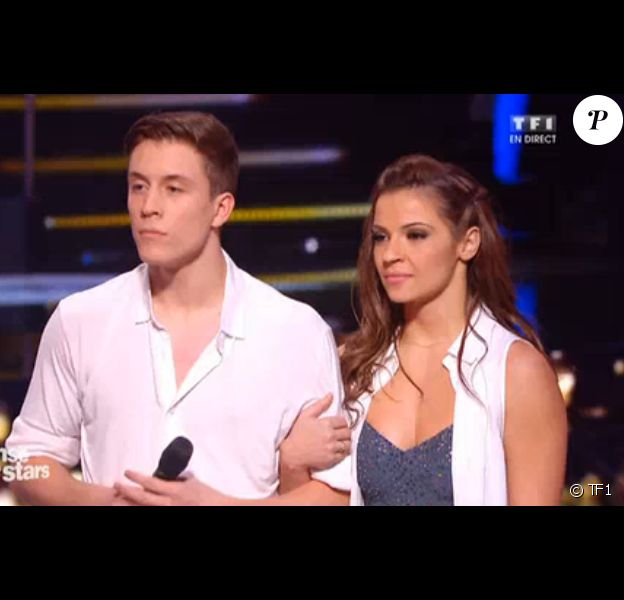 """Loïc Nottet et Denitsa Ikonomova dans """"Danse avec les stars 6"""", sur TF1. Le 12 décembre 2015."""