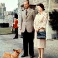 La reine Elizabeth II et le duc d'Edimbourg au château de Windsor, en 1959.