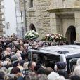 Les obsèques de Alain Barrière en l'église Saint-Joseph à La Trinité-sur-Mer le 23 décembre 2019.