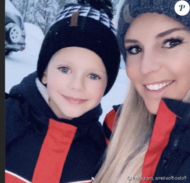 Amélie Neten en Laponie avec sa famille pour les vacances de Noël - 23 décembre 2019, Instagram