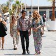 Adriana Karembeu enceinte de 7 mois et demi et son mari André Ohanian sont de retour à Monaco le 1er juin 2018 ou elle va accoucher au mois de juillet. Le couple amoureux plus que jamais se promène sur le port Hercule de Monaco.
