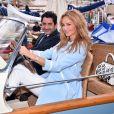 Adriana Karembeu et son mari André Ohanian sont au Yacht Club de Monaco dans le cadre de la 12 ème Monaco Classic Week à Monaco le 10 septembre 2015.