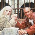"""Le père Fouras et Patrice Laffont dans """"Fort Boyard"""" en 1993"""