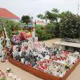Exclusif - Tombe de Johnny Hallyday au cimetière de Lorient à Saint-Barthelemy, Antilles françaises, France, le 28 août 2019.