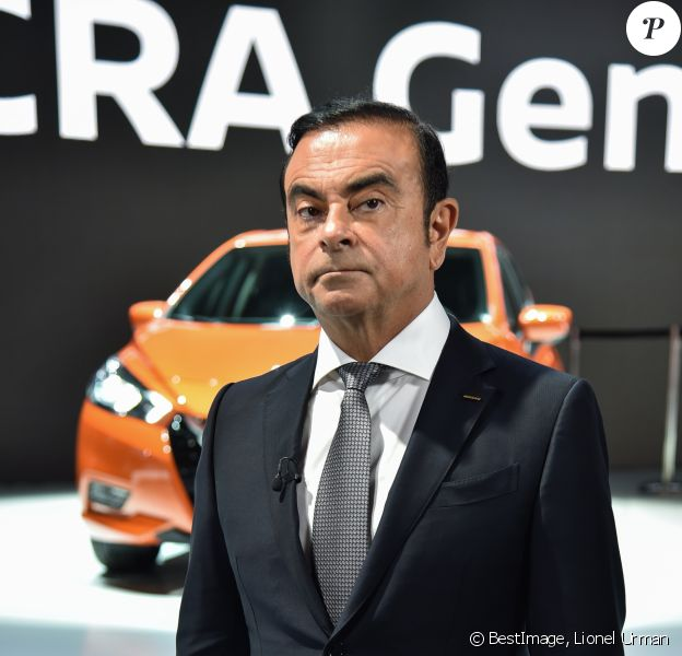 Carlos Ghosn, PDG de Renault et Nissan - Illustrations au Mondial de l'Automobile 2016 au Parc des Expositions de la Porte de Versailles à Paris le 29 septembre 2016. © Lionel Urman / Bestimage