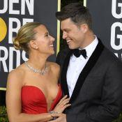 Scarlett Johansson au bras de Colin Jost, les stars en couple aux Golden Globes