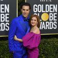 Sacha Baron Cohen et sa femme Isla Fisher - Photocall de la 77e cérémonie annuelle des Golden Globe Awards au Beverly Hilton Hotel à Los Angeles. Le 5 janvier 2020. © Kevin Sullivan via ZUMA Wire/Bestimage