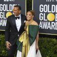 Alex Rodriguez et sa fiancée Jennifer Lopez - Photocall de la 77e cérémonie annuelle des Golden Globe Awards au Beverly Hilton Hotel à Los Angeles. Le 5 janvier 2020. © Kevin Sullivan via ZUMA Wire/Bestimage