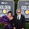 Dexter Fletcher et sa femme Dalia Ibelhauptaite - Photocall de la 77e cérémonie annuelle des Golden Globe Awards au Beverly Hilton Hotel à Los Angeles. Le 5 janvier 2020. © Kevin Sullivan via ZUMA Wire/Bestimage