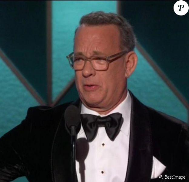 Tom Hanks lors de la 77ème cérémonie annuelle des Golden Globe Awards à l'hôtel Beverly Hilton à Los Angeles, Californie, Etats-Unis, le 5 janvier 2020.