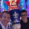 """Jean-Luc Reichmann avec Paul des """"12 Coups de midi"""", le 21 décembre 2019"""