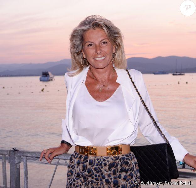 Exclusif - Caroline Margeridon - Soirée Marcel Campion au restaurant La Bouillabaisse Plage de Saint-Tropez, France, le 7 août 2019. © Rachid Bellak/Bestimage