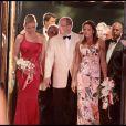 Charlene Wittstock, Albert Grimaldi et Stéphanie de Monaco Alexandra au 61e gala de la Croix Rouge à Monaco