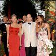 Charlene Wittstock, Albert et Stéphanie de Monaco au 61e gala de la Croix Rouge à Monaco