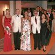 Charlene Wittstock, Albert Grimaldi, Emilio et Gloria Estefan au 61e gala de la Croix Rouge à Monaco