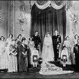 Mariage d'Elizabeth et Philip au palais de Buckingham, en 1947.