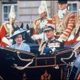La reine Elizabeth et le prince Philip fêtent leurs 40 ans de mariage en 1987.