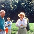 Le prince Philip et la reine Elizabeth aux courses hippiques de Windsor en 1998.