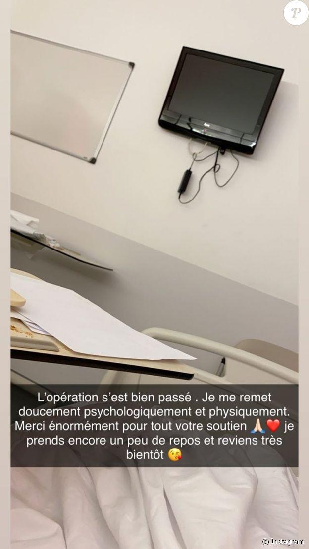Julia Paredes à l'hôpital le 17 janvier 2020.