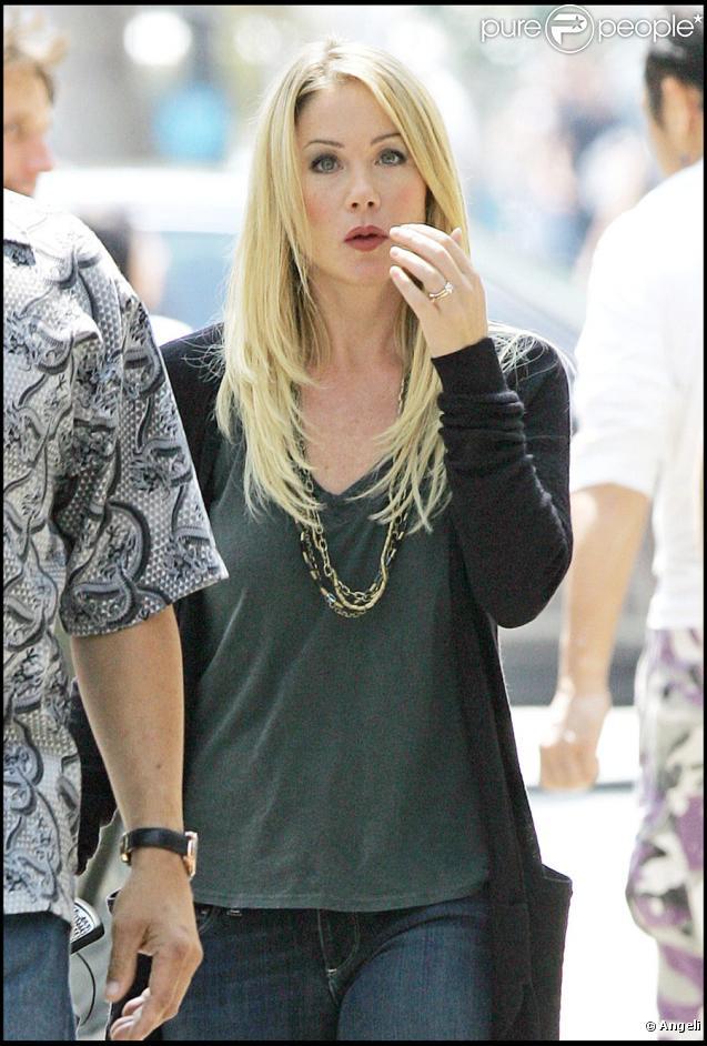 Christina Applegate sur le tournage de Going the Distance à New York le 3 août 2009