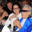 Nana Mouskouri, Michou - Michou fête son 88ème anniversaire dans son cabaret avec ses amis à Paris le 18 juin 2019.  © Philippe Baldini/Bestimage