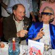 Charles Dumont, Michou, Jean-Paul Belmondo - Michou fête son 88ème anniversaire dans son cabaret avec ses amis à Paris le 18 juin 2019. © Philippe Baldini/Bestimage
