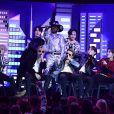 """BTS et Lil Nas X interprètent la chanson """"Old Town Road"""" lors de la 62ème soirée annuelle des Grammy Awards, au Staples Center. Los Angeles, le 26 janvier 2020."""