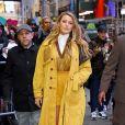 Blake Lively porte un manteau Fendi et des bottes Valentino en arrivant à l'enregistrement de l'émission Good Morning America à New York, le 28 janvier 2020.