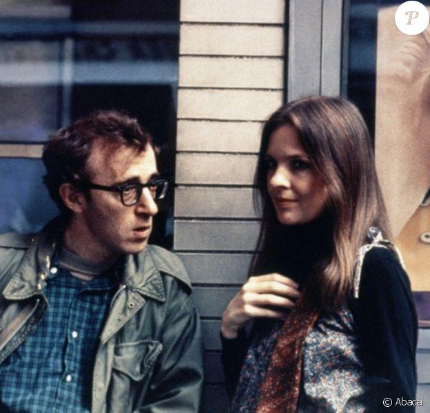 """Diane Keaton et Woody Allen sur le tournage du film """"Annie Hall"""" en 1977."""