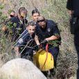 Le corps de l'acteur Mark Salling est transporté à la morgue par la police quelques heures après sa découverte à Sunland. Le 30 janvier 2018