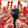 Exclusif - Jean-Paul Gaultier et les danseuses du Moulin Rouge - Backstage du concert anniversaire des 130 ans de la Tour Eiffel à Paris, qui sera diffusé le 26 octobre sur France 2. Le 2 octobre 2019. © Perusseau-Veeren/ Bestimage