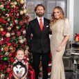 Tamara Ecclestone, son mari Jay Rutland et leur fille Sophia. Décembre 2019.